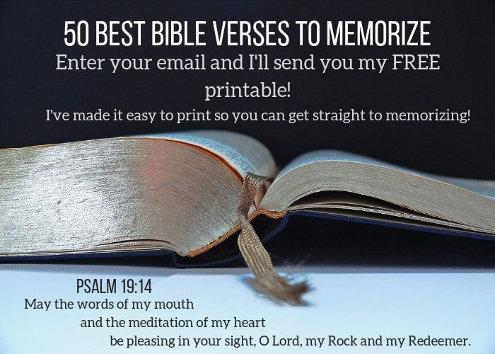 50 Most Important Bible Verses to Memorize | To Love, Honor and Vacuum