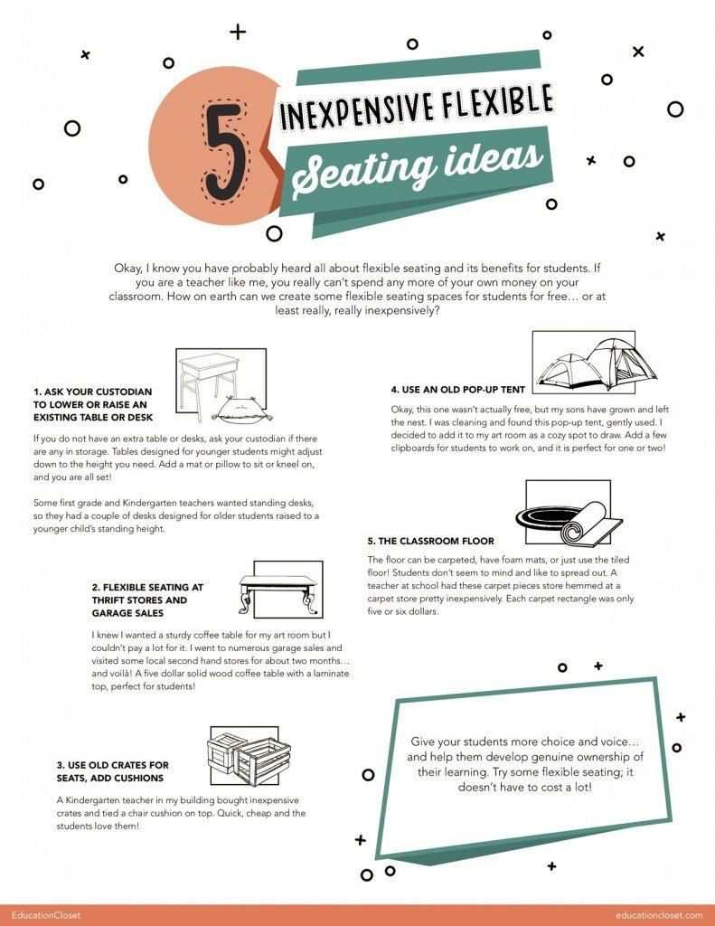 5 Inexpensive Flexible Seating Ideas | EducationCloset